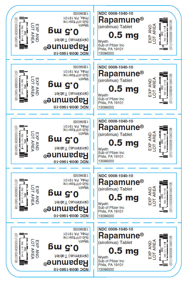 Package Label – Principal Display Panel – CSAT Foil Package 0.5 mg