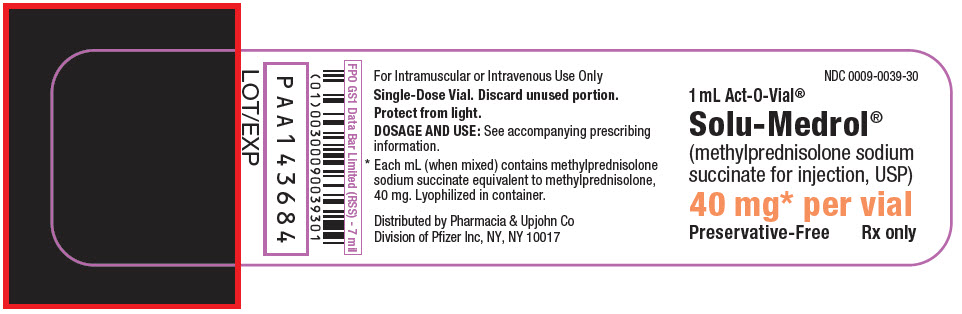 PRINCIPAL DISPLAY PANEL - 40 mg Vial Label